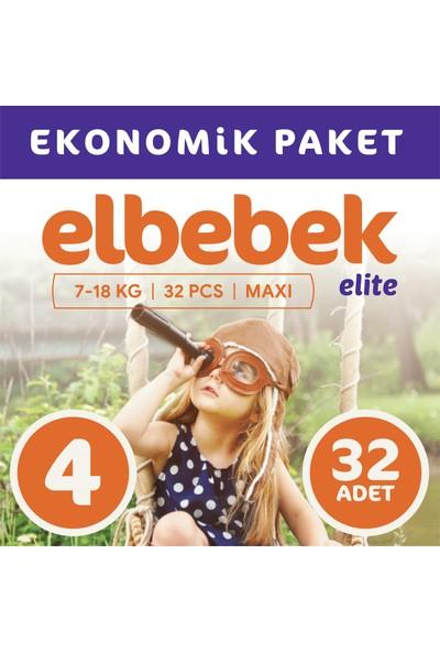 Elbebek Elite Bebek Bezi 4 Numara Maxi 32 Adet
