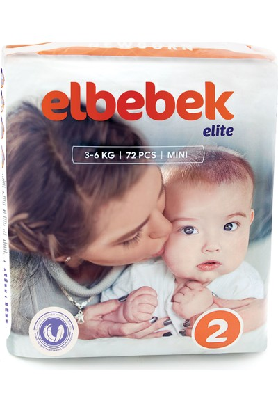 Elbebek Elite Bebek Bezi 2 Numara Mini 72 Adet