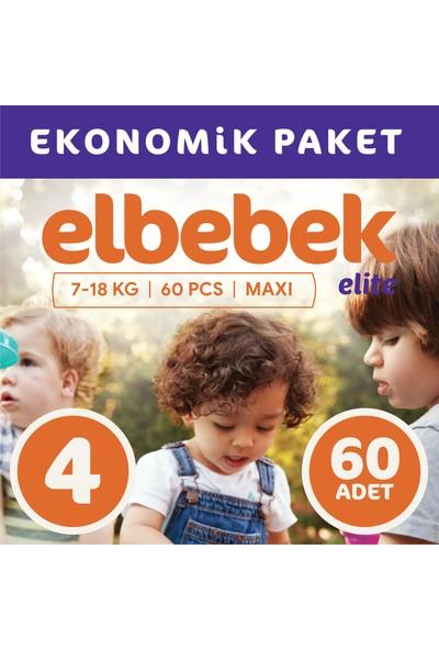 Elbebek Elite Bebek Bezi 4 Numara Maxi 60 Adet