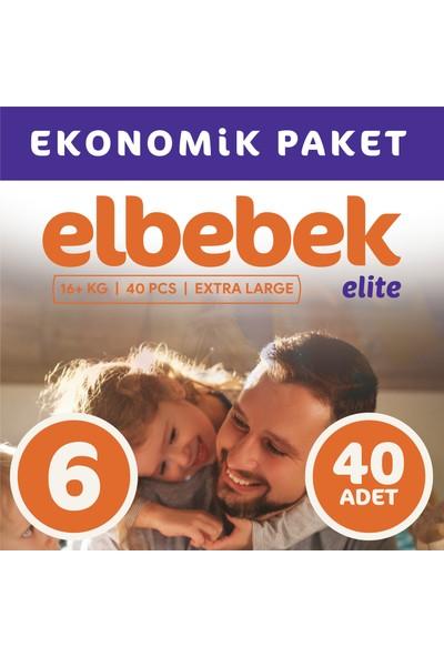 Elbebek Elite Bebek Bezi 6 Numara X Large 40 Adet