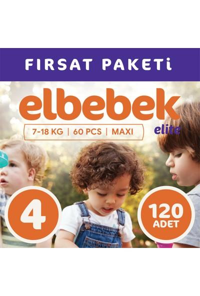 Elbebek Elite Bebek Bezi 4 Numara Maxi 120 Adet
