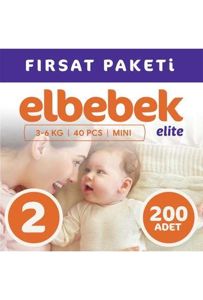 Elbebek Elite Bebek Bezi 2 Numara Mini 200 Adet