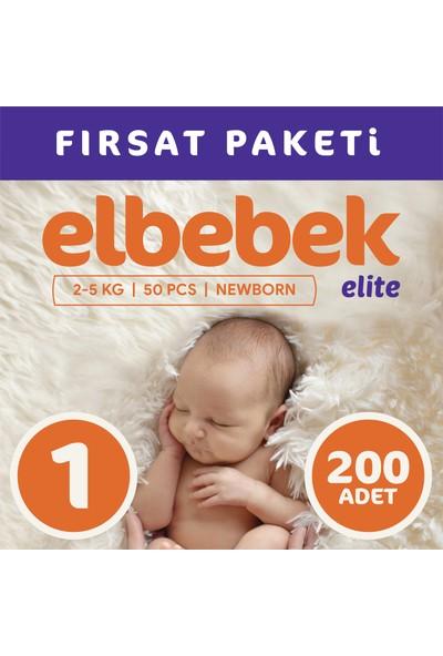 Elbebek Elite Bebek Bezi 1 Numara Yenidoğan 200 Adet