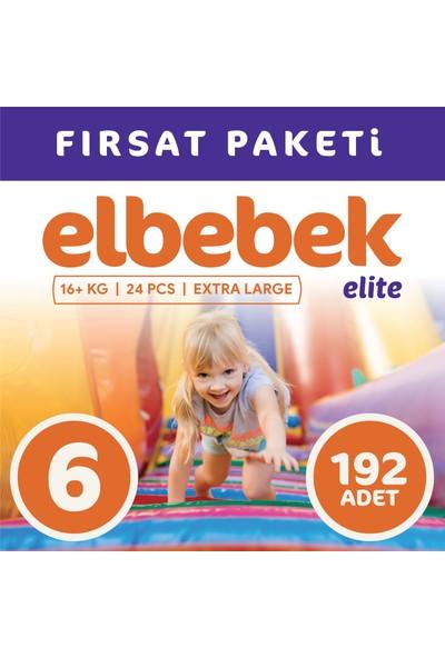 Elbebek Elite Bebek Bezi 6 Numara X Large 192 Adet