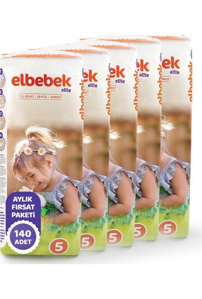 Elbebek Elite Bebek Bezi 5 Numara Junior 140 Adet
