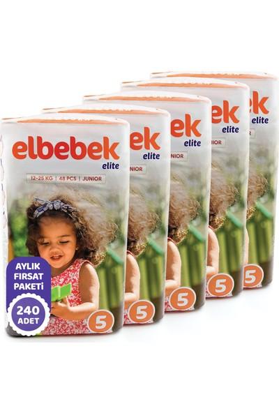 Elbebek Elite Bebek Bezi 5 Numara Junior 240 Adet