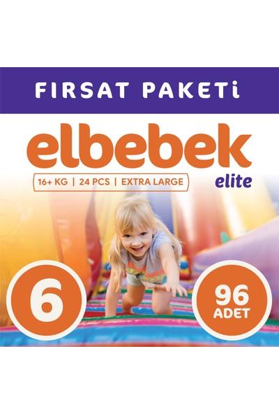 Elbebek Elite Bebek Bezi 6 Numara X Large 96 Adet