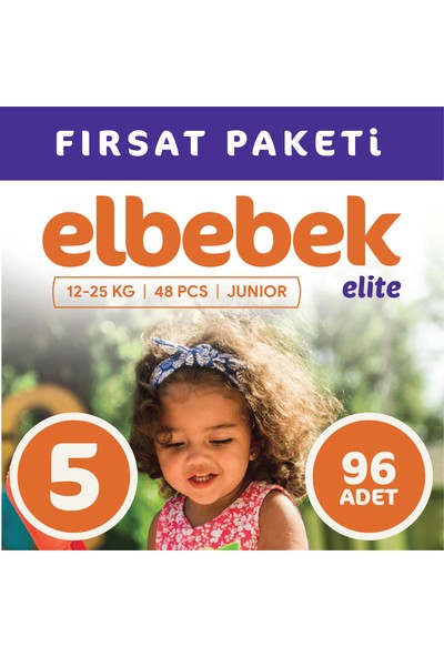 Elbebek Elite Bebek Bezi 5 Numara Junior 96 Adet