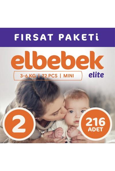 Elbebek Elite Bebek Bezi 2 Numara Mini 216 Adet