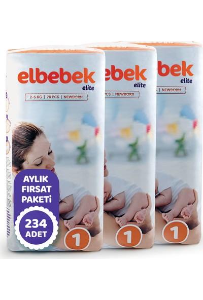 Elbebek Elite Bebek Bezi 1 Numara Yenidoğan 234 Adet