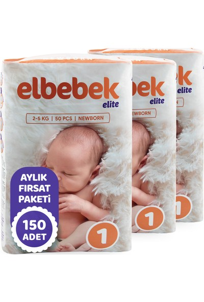 Elbebek Elite Bebek Bezi 1 Numara Yenidoğan 150 Adet