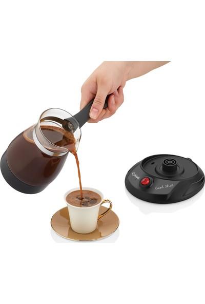 Kcm 7514 Cam Türk Kahvesi Makinası - Elekrikli Cezve