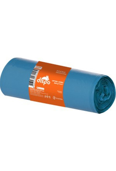 Dispo Endüstriyel Jumbo Mavi Çöp Torbası 10'lu 80 x 110 cm