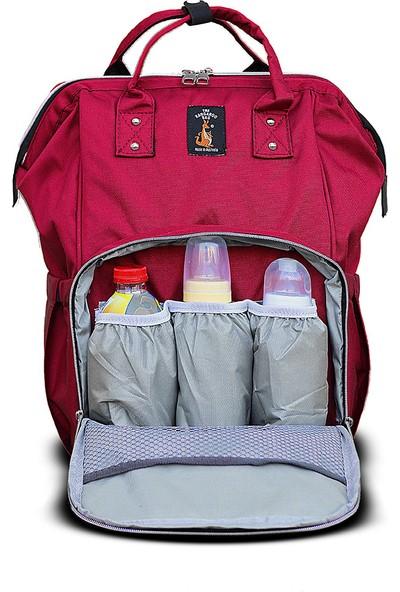 The Kangaroo Bag Luxury Anne Bebek Bakım Sırt Çantası Bordo