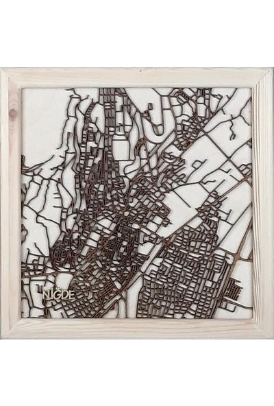 Zmap Design Özel Tasarım Niğde Ahşap Şehir Haritası