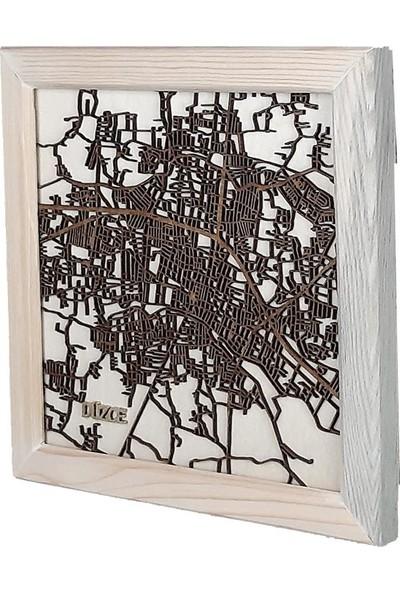 Zmap Design Özel Tasarım Düzce Ahşap Şehir Haritası