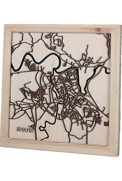 Zmap Design Özel Tasarım Bartın Ahşap Şehir Haritası