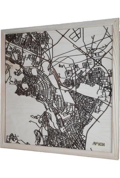 Zmap Design Özel Tasarım Afyonkarahisar Ahşap Şehir Haritası