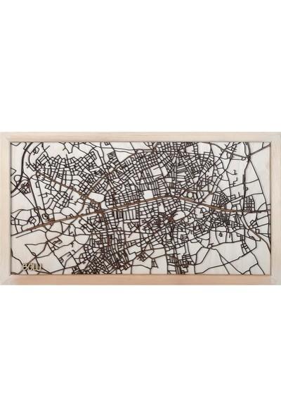 Zmap Design Özel Tasarım Bolu Ahşap Şehir Haritası