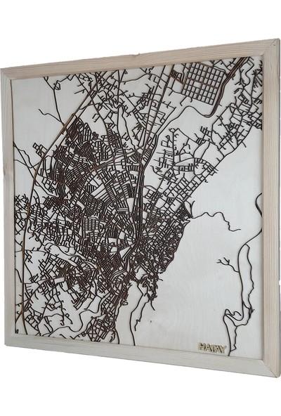 Zmap Design Özel Tasarım Hatay Ahşap Şehir Haritası