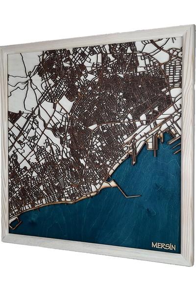 Zmap Design Özel Tasarım Mersin Ahşap Şehir Haritası