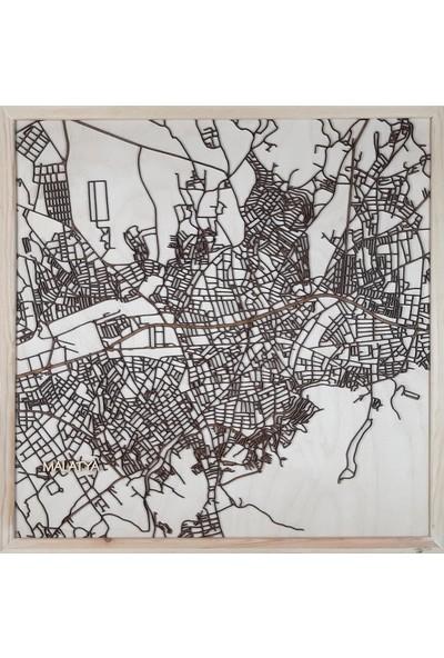 Zmap Design Özel Tasarım Malatya Ahşap Şehir Haritası