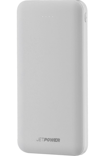 MF Product Jettpower 0065 10000 mAh 2.1A Hızlı Şarj Powerbank Beyaz