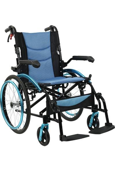 Golfi̇ G-503 Alüminyum Manuel Transfer Tekerlekli Sandalye