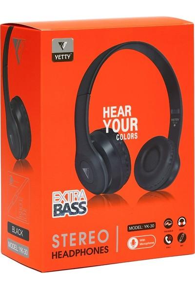 Yetty Yk-30 Extra Bass Mikrofonlu Kulaküstü Büyük Kulaklık