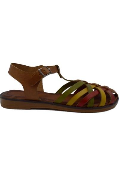Charmia Kadın Deri Günlük Sandalet Multi 3166