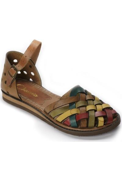 Charmia Kadın Deri Günlük Sandalet Multi Ayakkabı 073