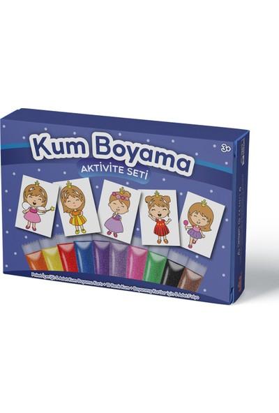 Kumbo Kum Boyama Sevimli Prenses Kum Boyama Aktivite Seti 5'li Paket