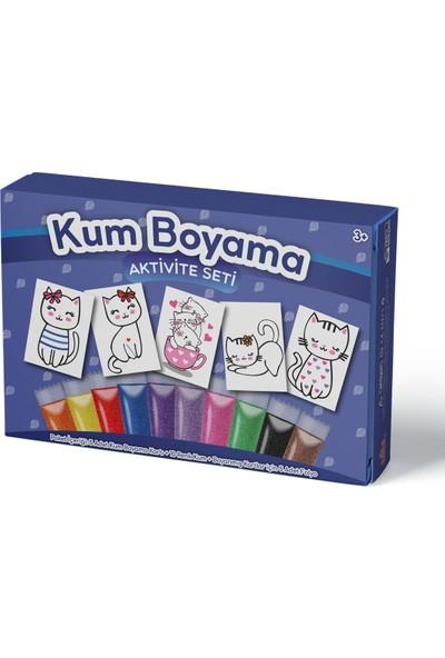 Kumbo Kum Boyama Sevimli Kediler Kum Boyama Aktivite Seti 5'li Paket