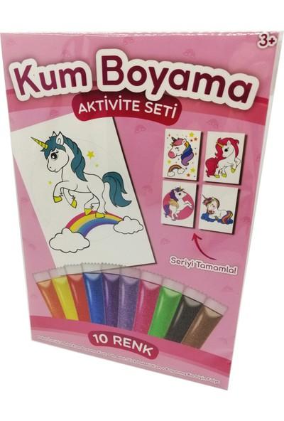 Kumbo Kum Boyama Gökkuşağı Unicorn Kum Boyama Aktivite Seti