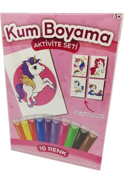 Kumbo Kum Boyama Pembe Kanatlı Unicorn Kum Boyama Aktivite Seti