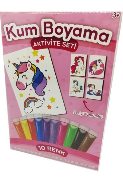 Kumbo Kum Boyama Parıltılı Unicorn Kum Boyama Aktivite Seti
