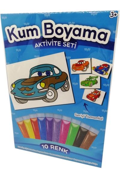 Kumbo Kum Boyama Ihtiyar Yarışçı Araba Kum Boyama Aktivite Seti
