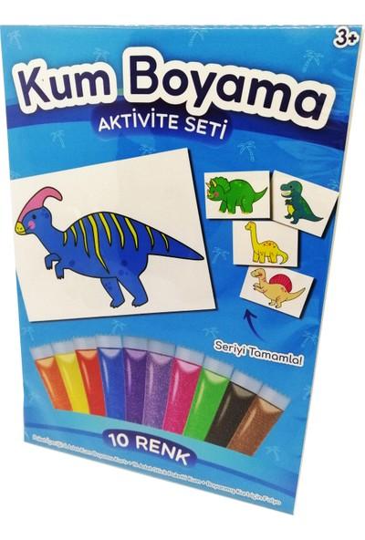 Kumbo Kum Boyama Parasaurolophus Dinozor Kum Boyama Aktivite Seti