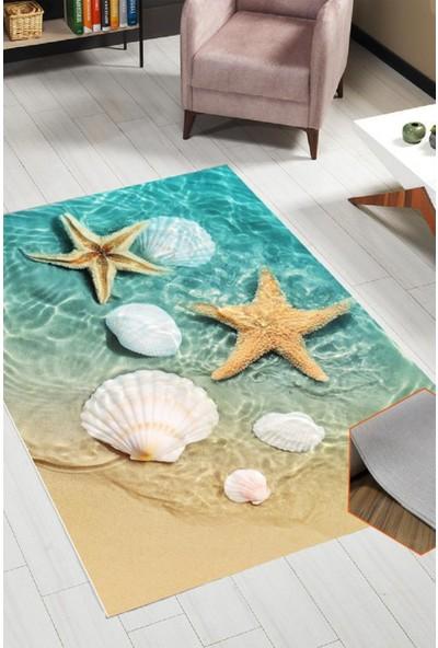 Belemir K393 Deniz Yıldızı Dekoratif Yıkanabilir Halı