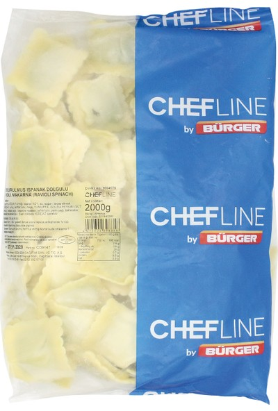 Chefline Ispanaklı Ravioli 2 kg