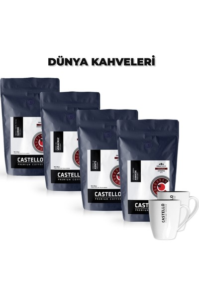 Castello Dünya AeroPress Kahveleri Paketi 1000 GR Single Origin