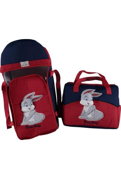 Rain Baby Tavşan Kabartma Taşıma Seti 2'li Kırmızı