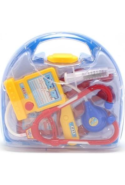 Bircan Oyuncak Çantalı Doktor Seti - Mavi