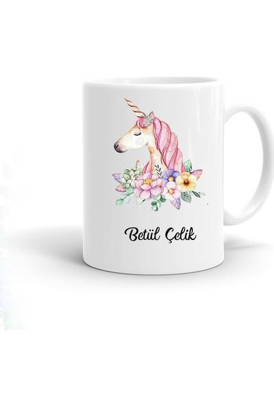 Ayzi Tasarım Kişiye Özel Unicorn Tasarım Kupa Bardak