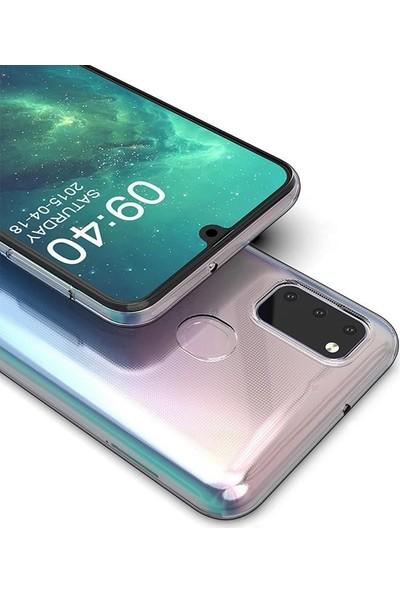 Gpack Samsung Galaxy A21S Kılıf Süper Silikon Yumuşak Arka Koruma Şeffaf