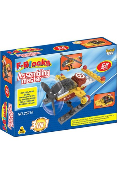 Furkan Toys F-Blocks Master Seti 52 Parça