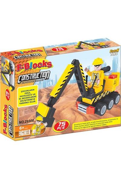 Furkan Toys F-Blocks İnşaat Seti 75 Parça