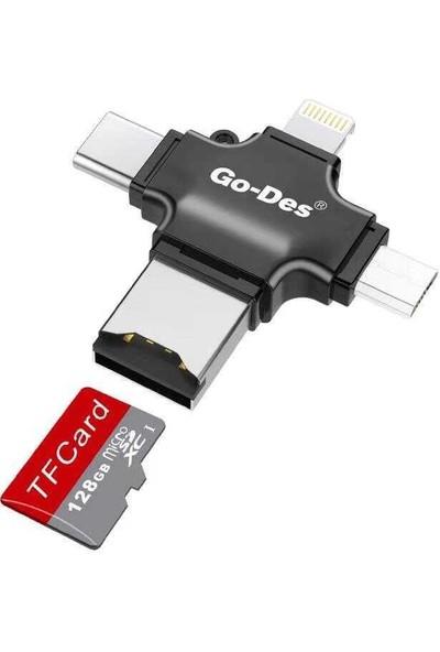 Go-Des GD-DK101 3 in 1 Hafıza Kart Okuyucusu Veri Akatarım Cihazı