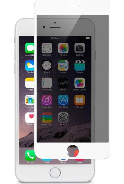 Mediacholic Apple iPhone 7 Plus Hayalet 5d Gizlilik Filtreli Cam Beyaz