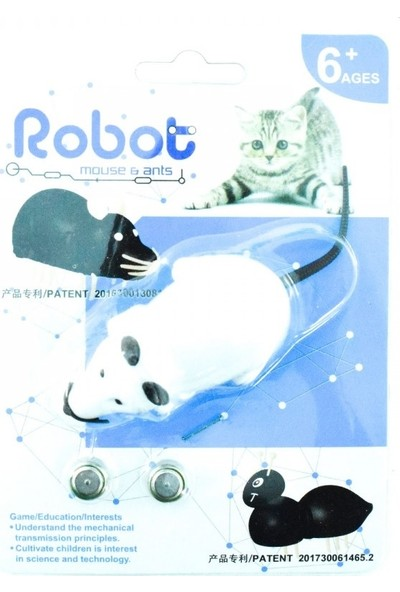 Cado Pet Maskot Pet Pilli Hareketli Robot Fare